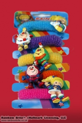 Rainbow Brite Ponytail Holders