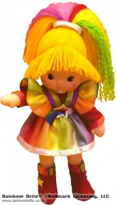 9 inch Dress up Rainbow Brite Doll